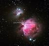 ORIONTÅKEN M42 - M43 OG - NGC 1977 - ORION NEBULA - MESSIER 42 - MESSIER 43 - NGC 1977 RUNNING MAN NEBULA.