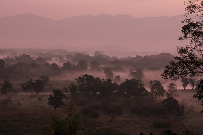 Sunrise at the Thai side of the Mekong river, in the background Laos. 18.2.2014 Canon EOS-M 18-55mm