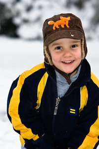 My little guy in a snow storm - a grab shot that looks very posed and well-lit. Plus, his expression slays me. My kids are a recurring theme in my favorite shots, BTW.