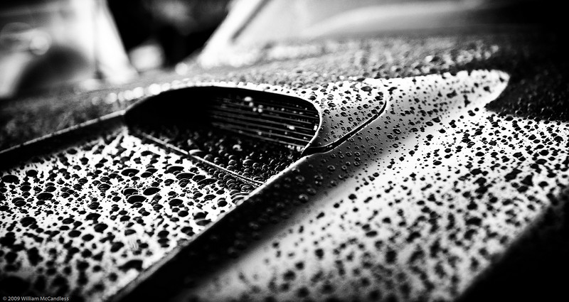 Edmond Car Show during LibertyFest 2008.  It had just rained creating the beading effect, and I struck gold.