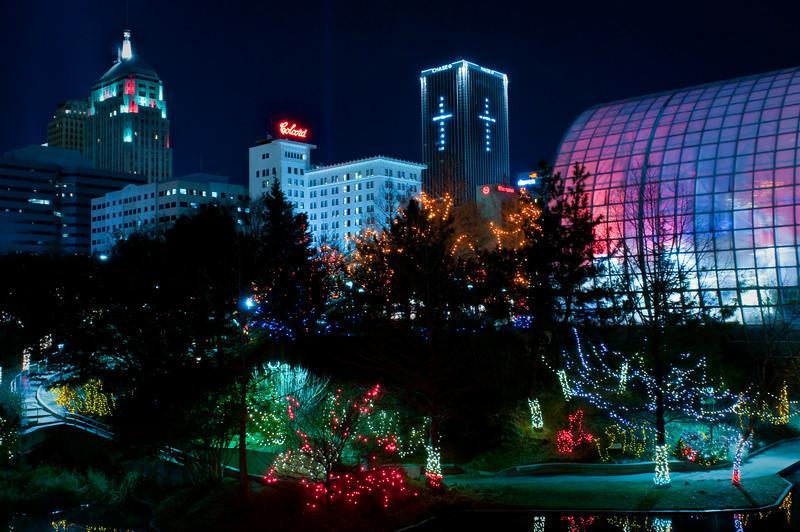 Myriad Gardens at Christmas, Oklahoma City