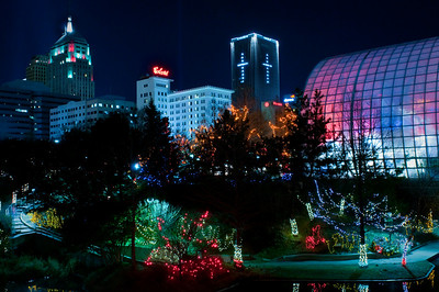 Myriad Gardens at Christmas, Oklahoma City