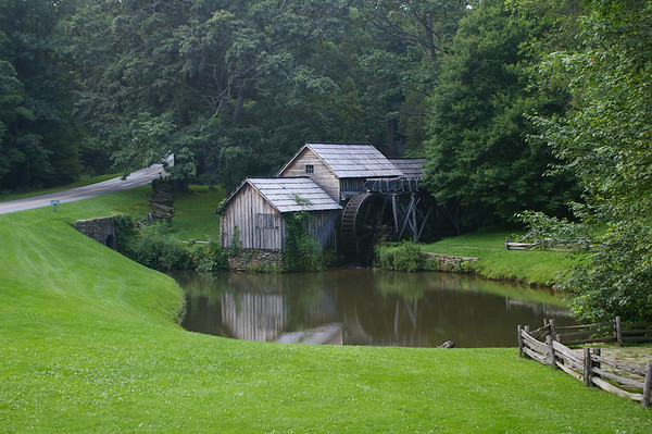 Mabery Mill is located in Virginia on the Blue Ridge Parkway