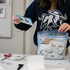 Shawna Bolingbroke sorts through her bag of project sketches and ideas in Utah State University's printmaking studio in Logan, Utah, Dec. 08, 2017. The printmaking program at USU encourages creativity by incorporating various print media, including intaglio, lithography, relief and screen printing. Bolingbroke is a printmaking major and currently working in an intaglio class. (Megan Nielsen/USUPJ)
