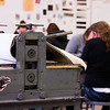 Students in the introduction to printmaking class work on their block prints at Utah State University's printmaking studio in Logan, Utah, Nov. 29, 2017. The printmaking program at USU encourages creativity by incorporating various print media, including intaglio, lithography, relief and screen printing. (Megan Nielsen/USUPJ)