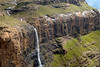 Tugela Falls flows from the summit of Mont aux Sources plummeting 947 meters (3107 feet), the Drakensburg Escarpment, Royal Natal National Park, Kwazulu-Natal, South Africa