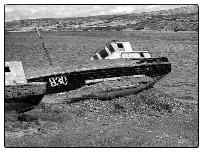 Chilean scuttled boat