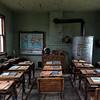 Schoolhouse Interior - Old Western Town - South Dakota
