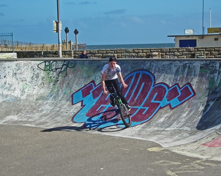 BMX at South Shields Skatepark