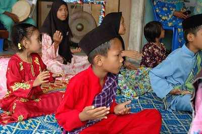 Childrens performance - rural village, Malaysia