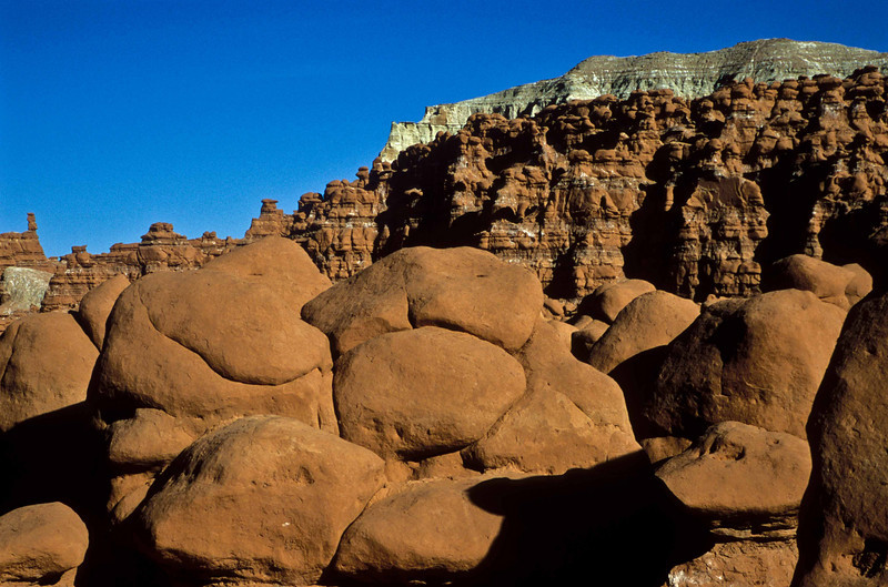 Mounds and layers at Goblin Valley.<br /> Photo © Carl Clark