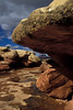 Rounded rocks at Pothole Point - Canyonlands.<br /> Photo © Carl Clark