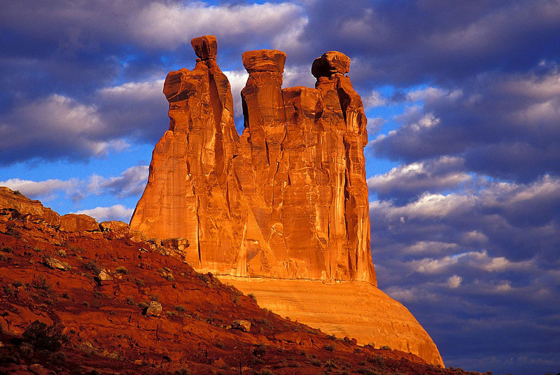 3 Gossips rock formation at Arches National Park.<br /> Photo © Cindy Clark