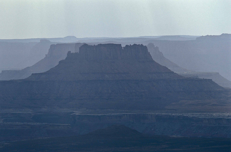 Layered mesas at Island in the Sky - Canyonlands.<br /> Photo © Carl Clark