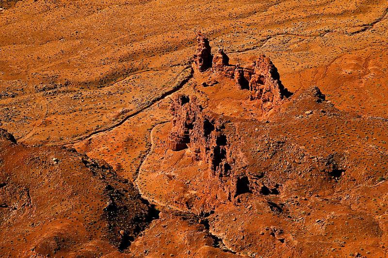 Alien-looking landscape seen from Needles Overlook, Canyonlands.<br /> Photo © Cindy Clark