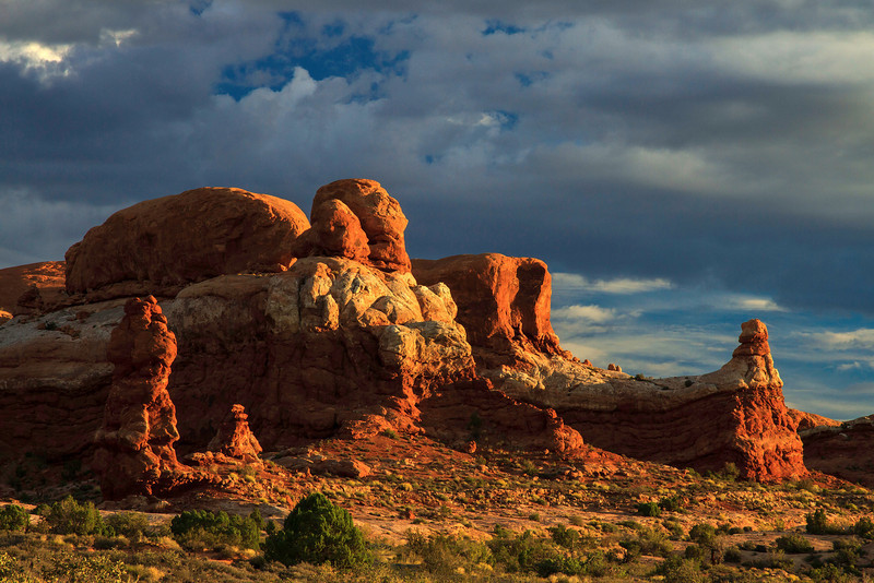 How many times have they seen a sunrise?  Another beautiful dawn at Arches.<br /> Photo © Cindy Clark