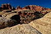 Wild architecture in the Needles section of Canyonlands.<br /> Photo © Carl Clark
