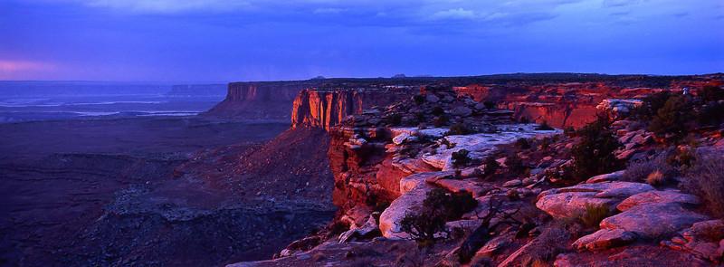 Sundown at Island in the Sky - Canyonlands.<br /> Photo © Carl Clark