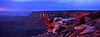 Sundown at Island in the Sky - Canyonlands.<br /> Photo © Carl Clark