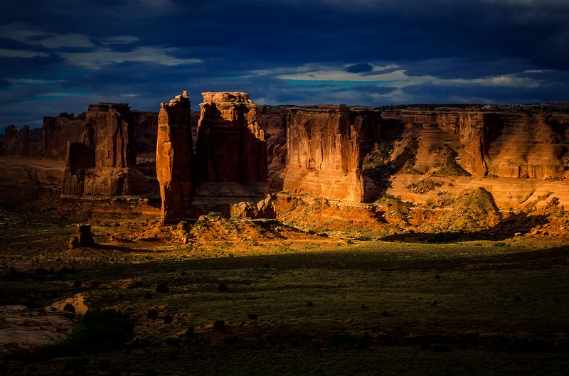 A stunning sunrise at Arches in July.<br /> Photo © Cindy Clark