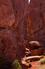What happened to the trail?  Permit-only hike in Fiery Furnace, Arches.<br /> Photo © Cindy Clark