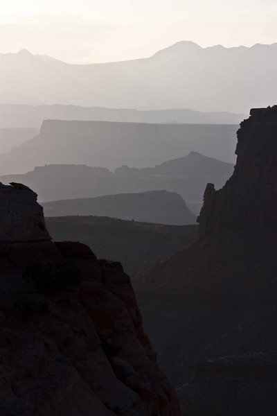 Layers at Shafer Canyon overlook - Canyonlands.<br /> Photo © Carl Clark