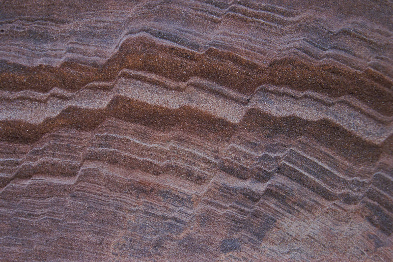 Sandstone patterns on the deck - Arches.<br /> Photo © Carl Clark