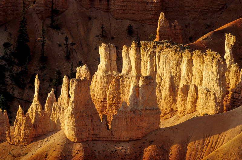 Just couldn't get enough of the beautiful effects of light and shadow at Bryce Canyon.<br /> Photo © Cindy Clark