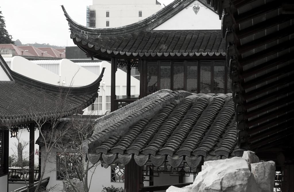 Roof overlap, Chinese Gardens, Dunedin