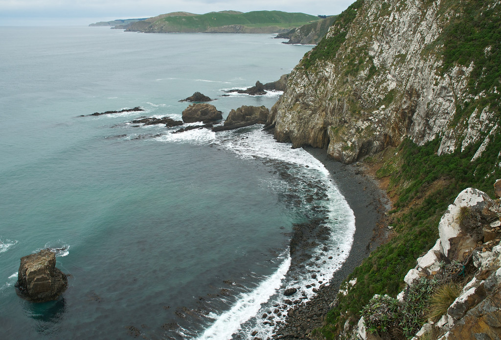Coastline to west at Nugget Point, Catlins