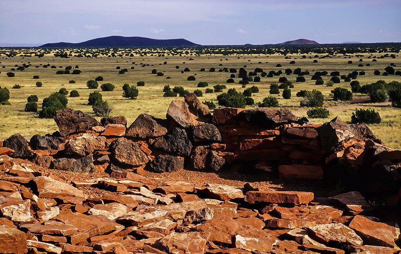 The Wupatki National Monument site was occupied from soon after the eruption of Sunset Crater in the 11th century, then abandoned by 1225.<br /> Photo © Cindy Clark