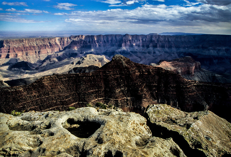 Varied rock forms seen from Cape Final on the North Rim of the Grand Canyon.<br /> Photo © Carl Clark
