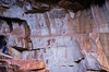 These petroglyphs can be seen on the Bright Angel trail, Grand Canyon.<br /> Photo © Cindy Clark