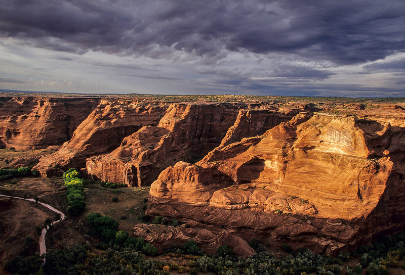 We were fortunate to get very saturated color from a rain storm at Canyon de Chelly.<br /> Photo © Cindy Clark