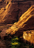 Last touch of sun reaches the bottom of Canyon de Chelly.<br /> Photo © Cindy Clark