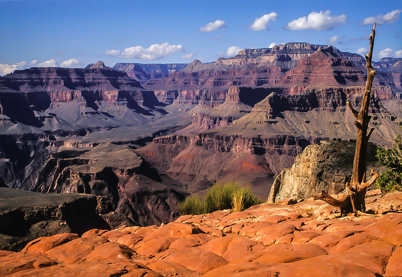 We had perfect weather on our descent via the South Kaibab trail, Grand Canyon.<br /> Photo © Cindy Clark