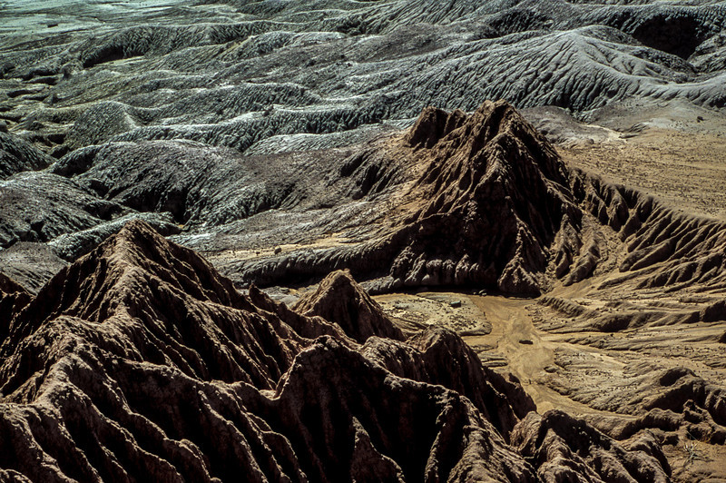 Other worldly forms in the Painted Desert.<br /> Photo © Carl Clark