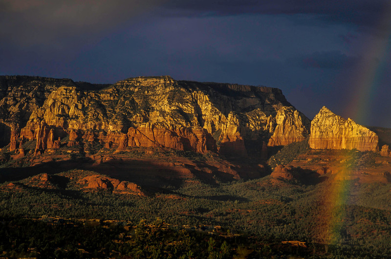 A local told us where to observe this view after a storm in Sedona.<br /> Photo © Cindy Clark