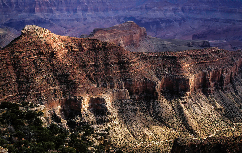Light play seen from the north rim of the Grand Canyon.<br /> Photo © Cindy Clark