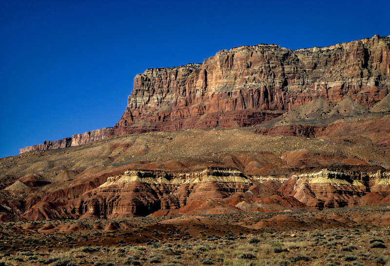 Millions of years of erosion reveal layers of color.<br /> Photo © Carl Clark