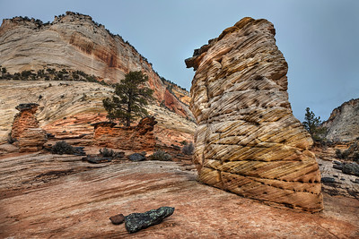 Stone Pillar of Zion National Park, Utah