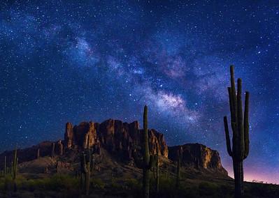 Stars over the Superstitions, Mesa, Arizona