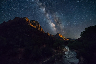 River by Night, Zion National Park, Utah