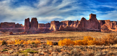 100 - Fall Colors and Beautiful Sunrise, Arches National Park, Utah