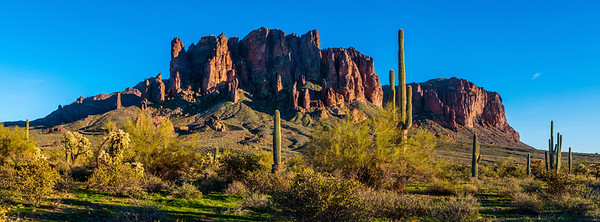 Beautiful Green Spring Desert, Superstitions Mountains, AZ