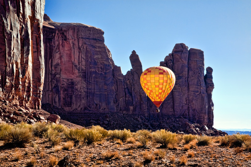 Hot Air Balloon - Monument Valley Navajo Tribal Park, Utah