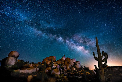 Alone under the Milky Way, Florence, Arizona