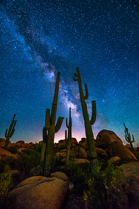 AstroPhotography Lighting up Desert Night, Arizona
