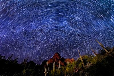 Desert Star Trails, Arizona