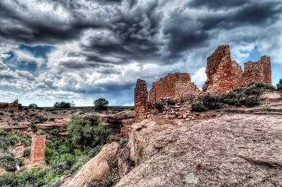 Near Cortez, Colorado the Hovenweep ruins attest to the creative engineering of the Anasazi Indians.
